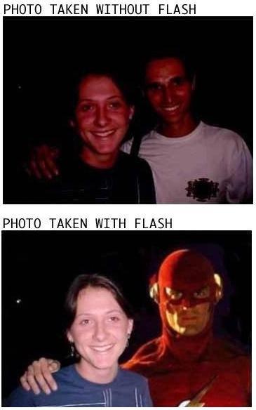Con Flash y Sin Flash